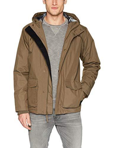 RVCA Men's Puffer Parka Jacket, Wood