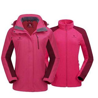 CAMEL CROWN Women's Ski Jacket Winter Jacket Waterproof