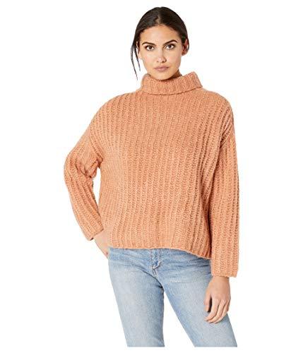 Free People Women's Fluffy Fox Sweater, Papaya