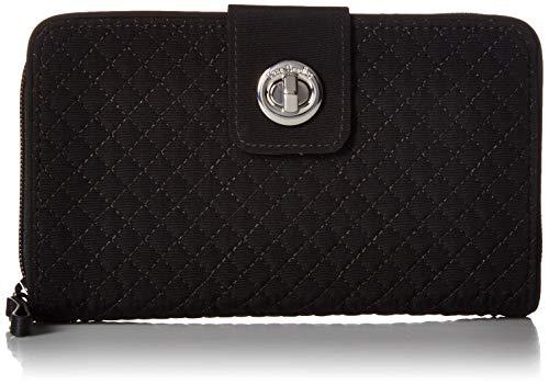 Vera Bradley Iconic RFID Turnlock Wallet, Microfiber