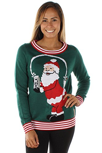 Tipsy Elves Women's Break The Internet Ugly Christmas Sweater