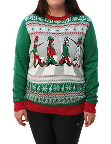 Ugly Christmas Sweater Plus Size Women's Beatles Abbey Road Sweatshirt