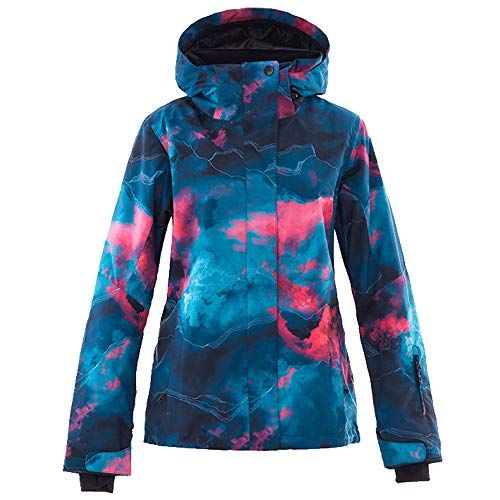 Mous One Women's Waterproof Ski Jacket Colorful Snowboard Coat