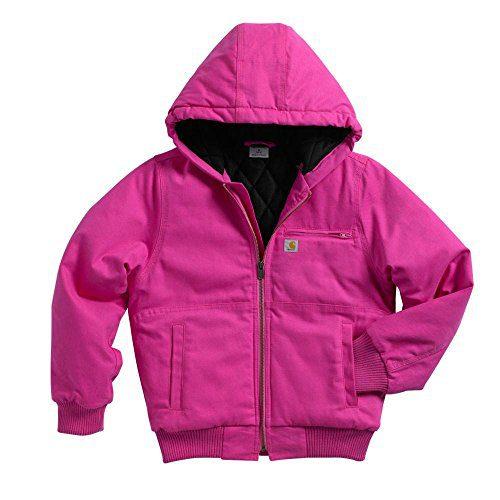 Carhartt Little Girls' Wildwood Jacket Quilt Lined, Raspberry Rose
