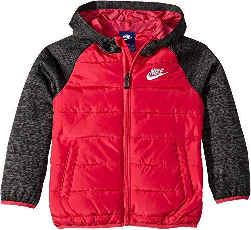 Nike Kids Girl's Therma Fleece Quilted Jacket (Little Kids) Rush Pink