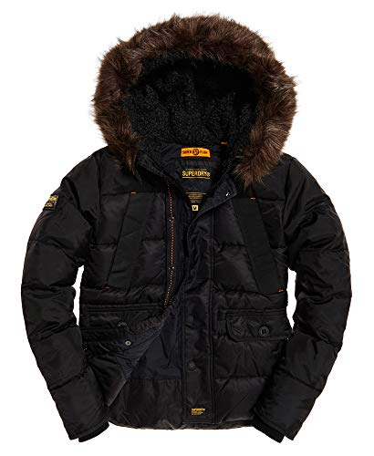 Superdry Men's Chinook Parka Jacket, Black