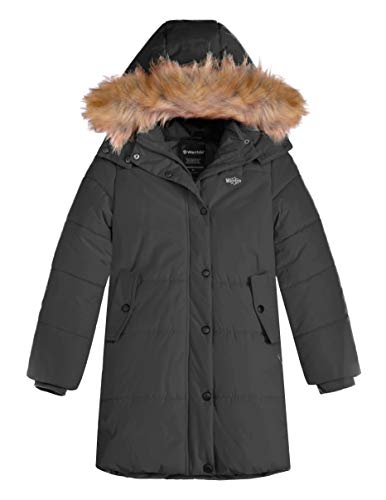 Wantdo Girl's Windproof Winter Coat Thick Quilted Long Winter Jacket