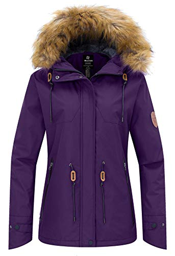 Wantdo Women's Winter Jacket Windproof Winter Snowboarding Coat