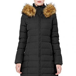 Orolay Women's Thickened Down Jacket Winter Coat (M, Black)