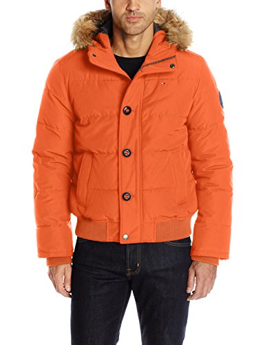 Tommy Hilfiger Men's Arctic Cloth Quilted Snorkel Bomber