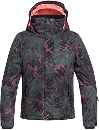 Roxy Little Jetty Snow Jacket, True Black_SWELL Flowers Girl