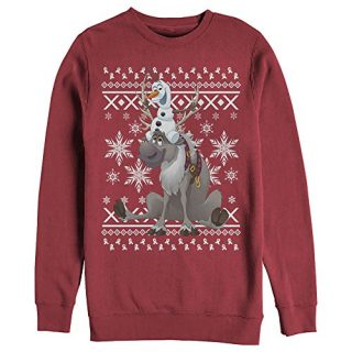Frozen Women's Ugly Christmas Sweater Friends Red Sweatshirt