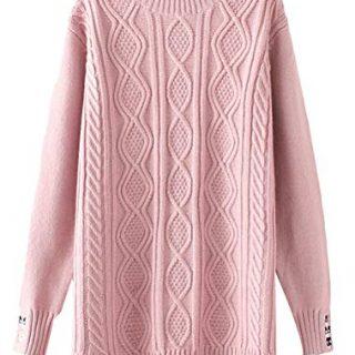 Minibee Women's Long Sleeve Sweater Mock Turtleneck Pullover