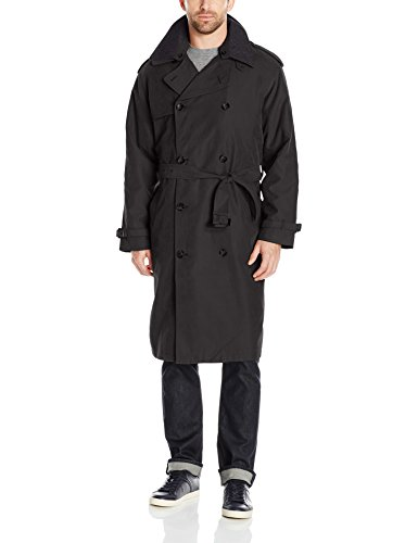 London Fog Men's Iconic Double Breasted Trench Coat