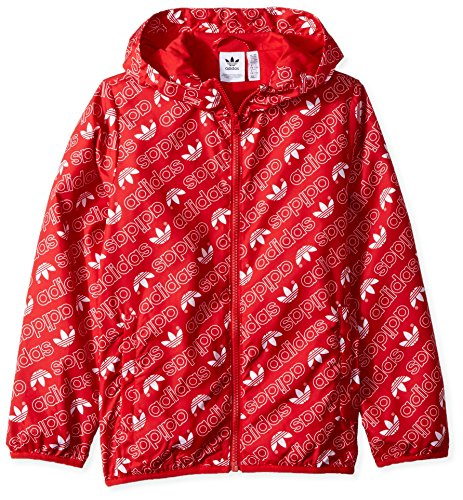 adidas Originals Boys' Big Trefoil Monogram Windbreaker