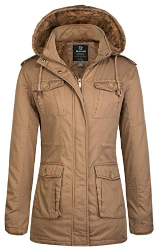 Wantdo Women's Warm Sherpa Lined Windproof Jacket