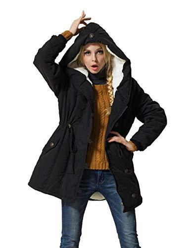 Eleter Women's Winter Warm Coat Hoodie Parkas Overcoat Fleece