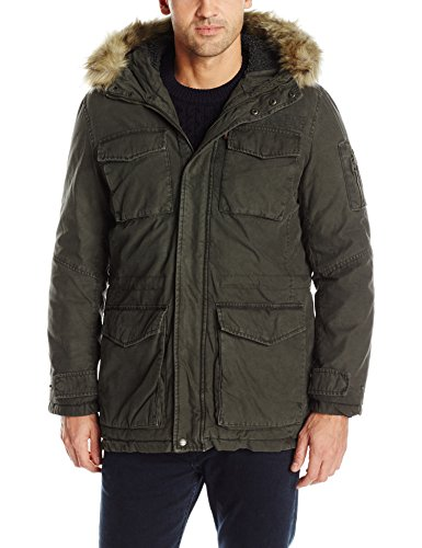 Levi's Men's Washed Cotton Sherpa Lined Parka