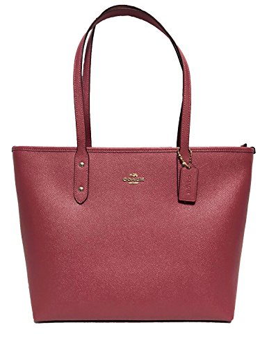 Coach City Crossgrain Leather Tote (IM/Rouge)