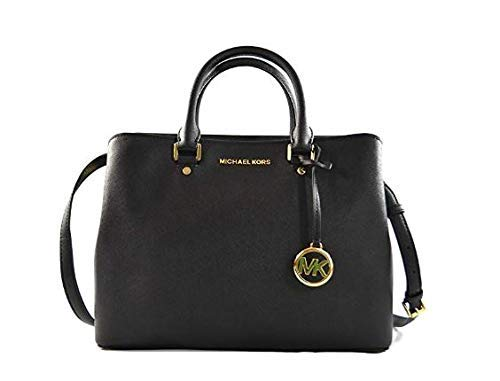 Michael Kors Women's Savannah - Large Satchel No Size (Black)