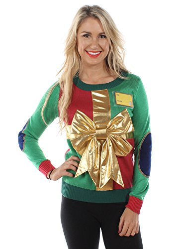 Tipsy Elves Women's Sweater: XX-Large Green