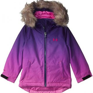 Under Armour Girls' Big ColdGear Snorkle Jacket, Flour Fuchsia Laila