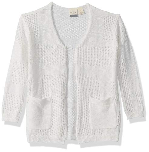 ROXY Big Winter Bliss Girl Cardigan, Snow White