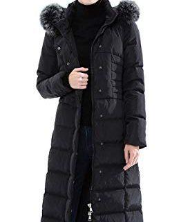 Obosoyo Women's Hooded Thickened Long Down Jacket Maxi