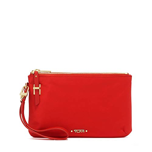 TUMI - Voyageur Abilene Double Zip Pouch - Clutch Wristlet Wallet for Women - Sunset
