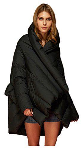 Orolay Women's Women's Puffer Down Coat Cloak-Type Jacket Black Medium