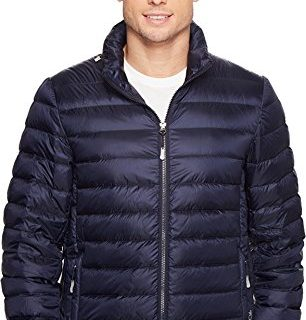 TUMI Men's Patrol Packable Travel Puffer Jacket