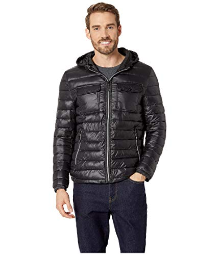 Kenneth Cole New York Men's Double Chest Pocket Puffer