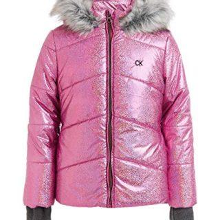 Calvin Klein Toddler Girls' Metallic Puffer Jacket