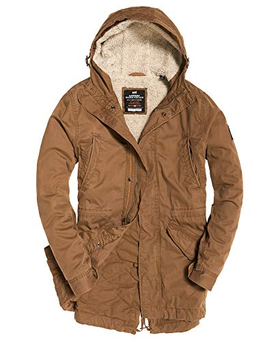 Superdry Mens New Military Parka Rusty Gold S