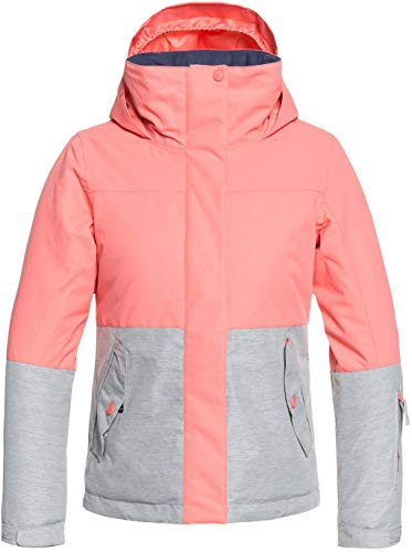 Roxy Little Jetty Block Girl Snow Jacket, Shell Pink
