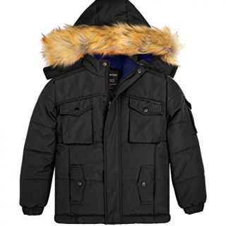 Wantdo Boys Thicken Winter Coat Quilt Cotton Puffer Jacket