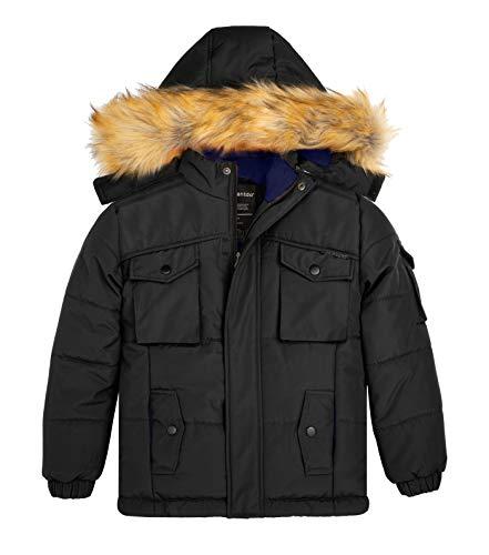 Wantdo Boys Thicken Winter Coat Quilt Cotton Puffer Jacket