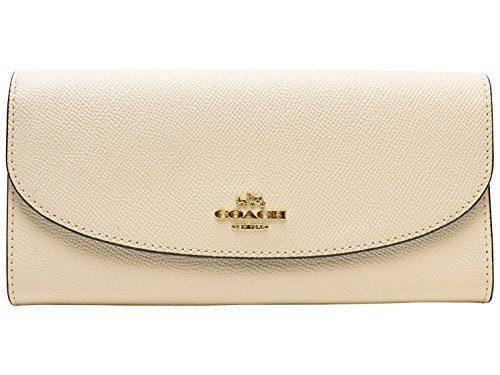 Coach Crossgrain Leather Slim Envelope Wallet