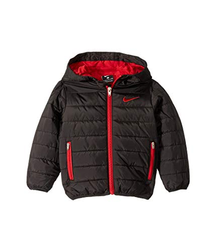 Nike Kids Baby Boy's Quilted Jacket (Toddler) Black
