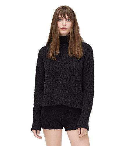 UGG Women's Sage Fluffy Sweater Knit Black Large