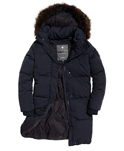 Womens Cocoon Parka Super Dark Navy 10