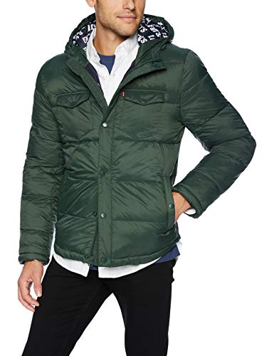 Levi's Men's Performance Hooded Ultra Loft Puffer Trucker Jacket