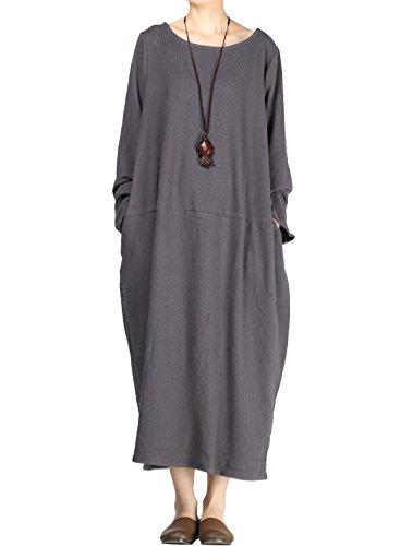 Mordenmiss Women's Knit Sweater Dress Long Sleeve Baggy Shift Pullovers