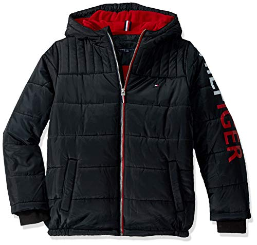 Tommy Hilfiger Boys' Big Mason Jacket, Black