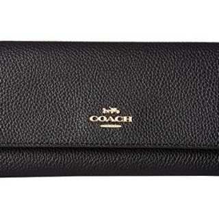COACH Women's Soft Trifold Wallet Gd/Black