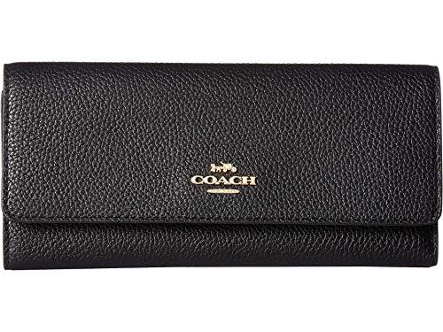 COACH Women's Soft Trifold Wallet Gd/Black