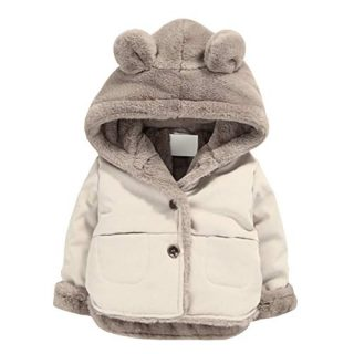 NinkyNonk Toddler Fleece Jacket, Warm Cotton Baby Winter Coats