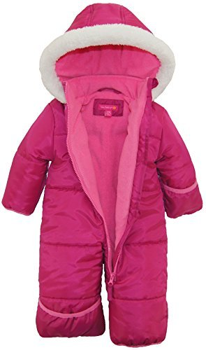 Pink Platinum Baby Girls One Piece Warm Winter Puffer Snowsuit Pram Bunting