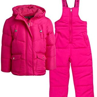 Steve Madden Baby Girls' 2-Piece Snowsuit Set - Puffer Jacket