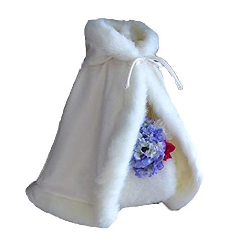 Lemai Baby Flower Girls Hooded Cape Wedding Cloak For Kids